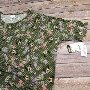 LuLaRoe Minnie Mouse Floral Irma Tunic XL